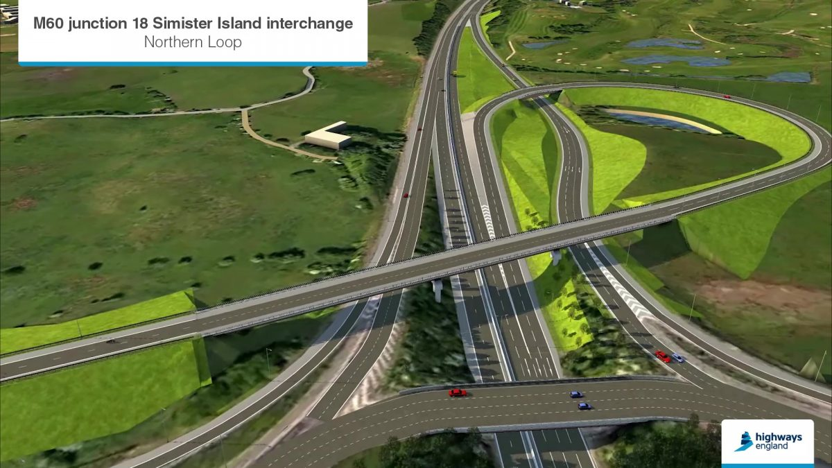 A new link road could take drivers in a loop from the eastbound to the southbound M60.
