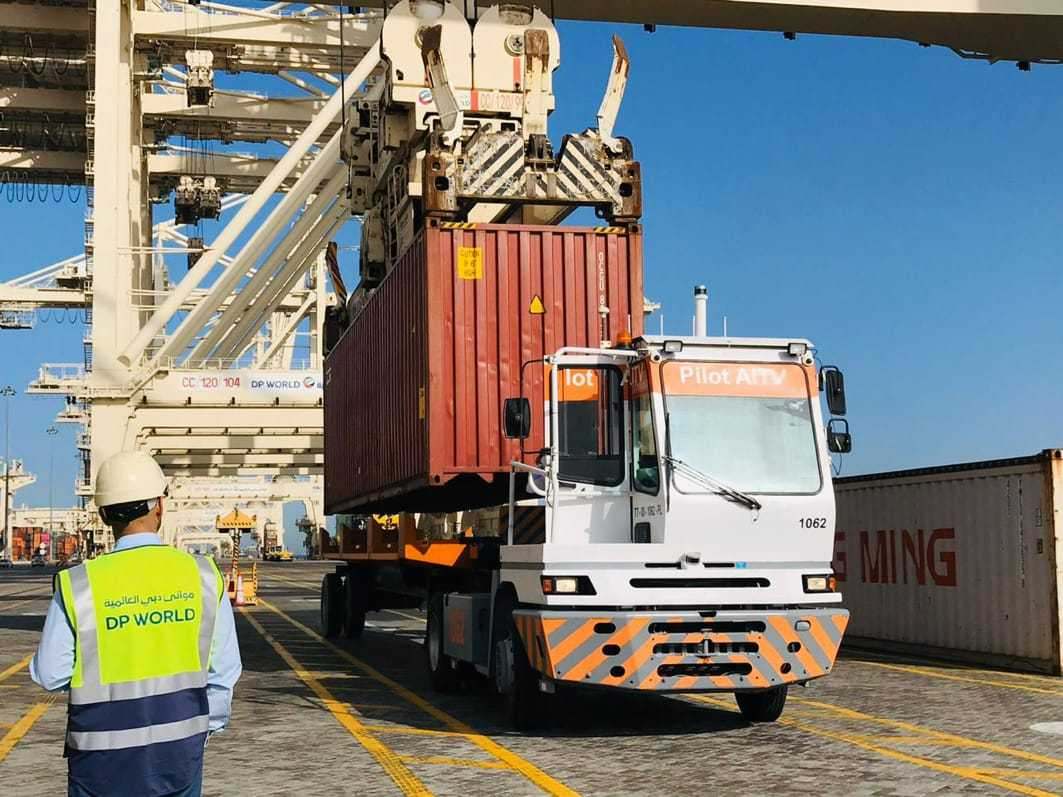 Autonomous Container Terminal Vehicles start work at Jebel Ali Port