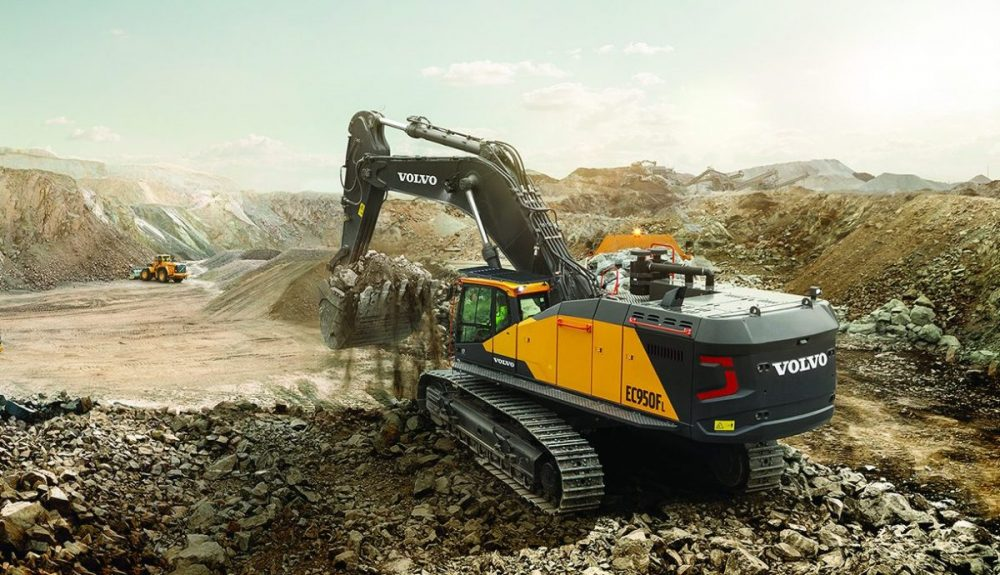 VolvoCE EC950F 90 tonne Crawler Excavator now available worldwide