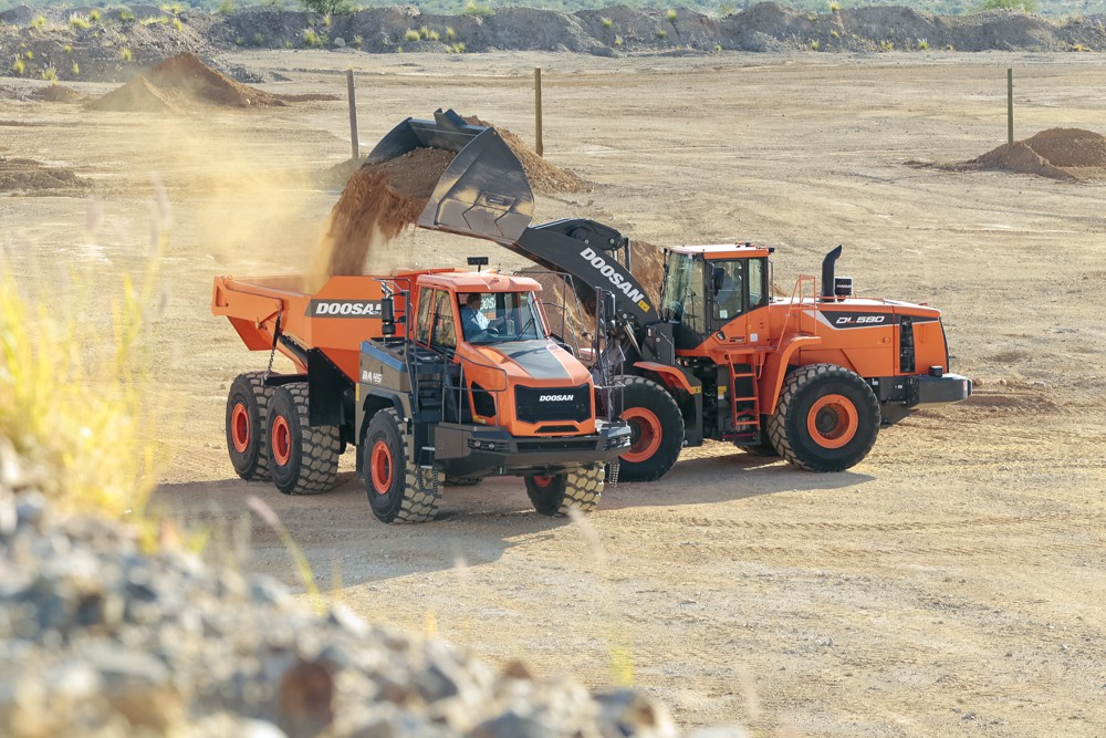 Doosan introduces DL580-5 wheel loader for quarry and mining markets