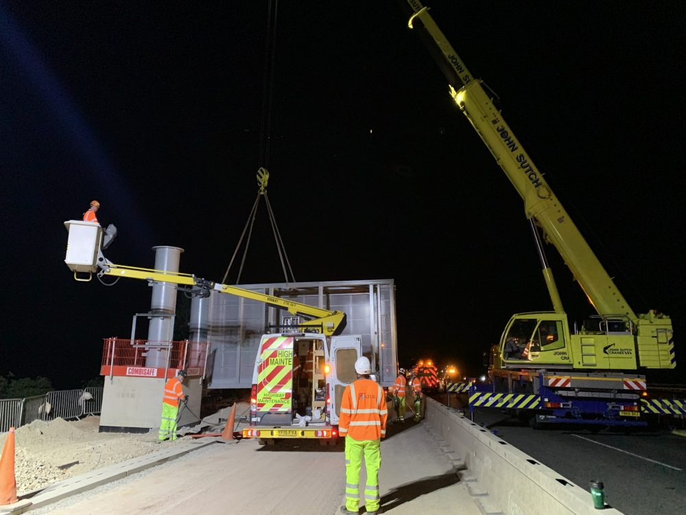 Highways England keeps M6 open with contraflows as huge gantries installed