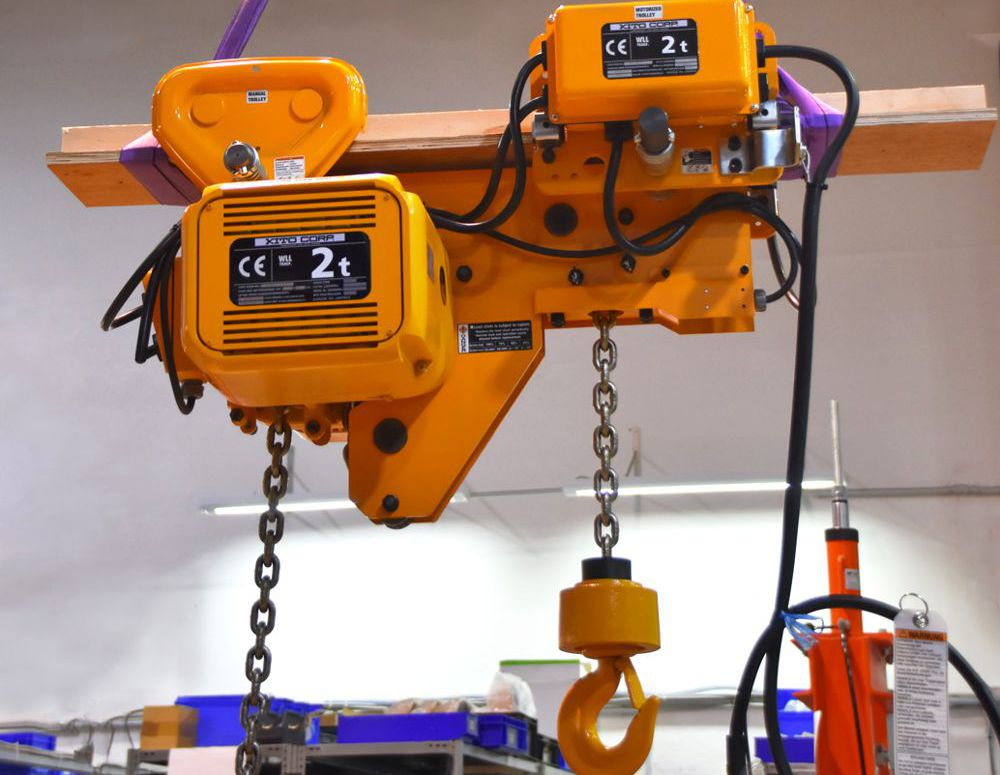 KITO SHER2M electric chain hoist delivers effortless maintenance work at low headroom