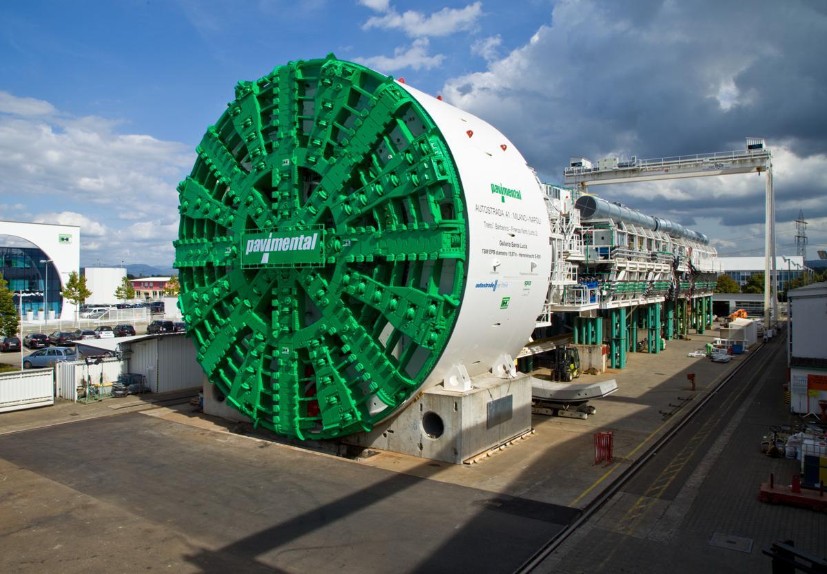 Herrenknecht celebrates breakthrough of 7.5km tunnel in Italy