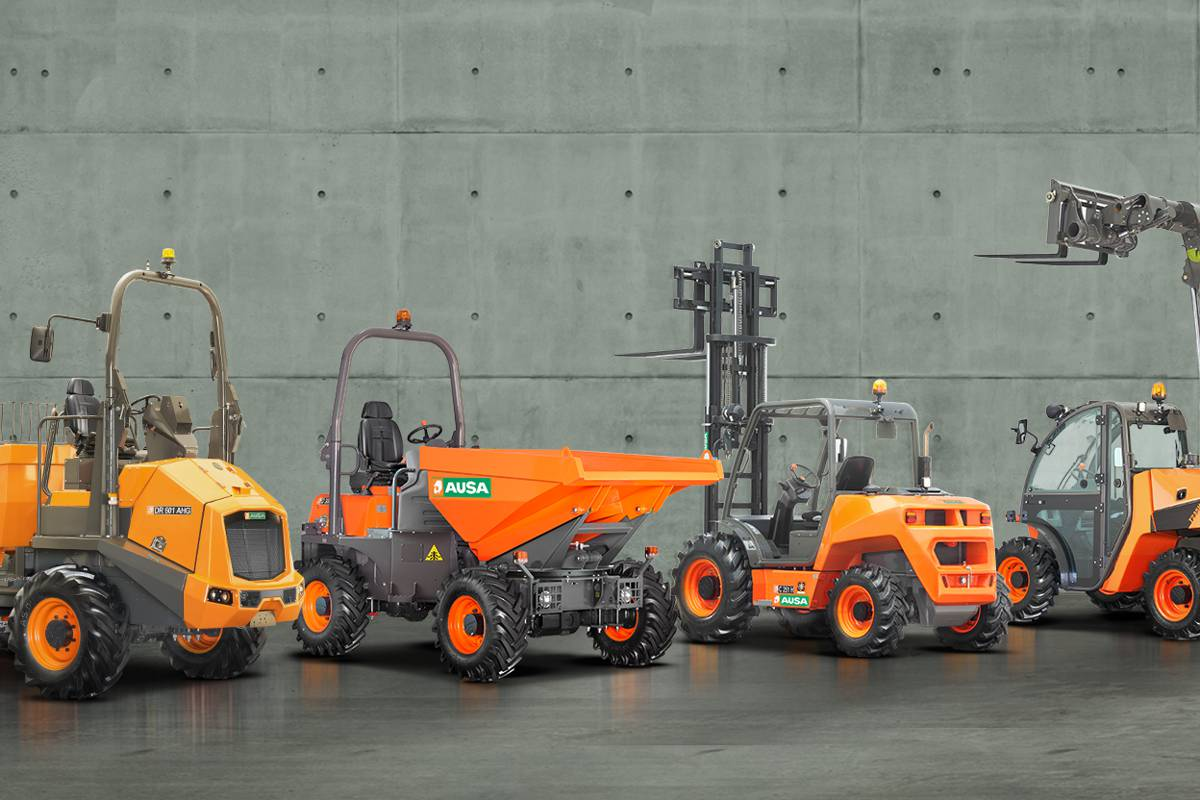 AUSA presentation introduces new dumpers, forklifts and handlers