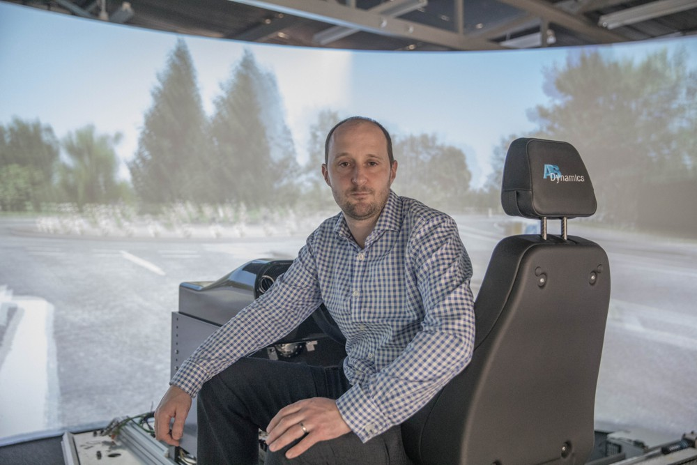 """Through aVDS-S, organisations that cannot justify the cost of an advanced dynamic driving simulator such as our aVDS, can still realise many of the benefits of meaningful human involvement early in the vehicle development process,"" says Dr. Adrian Simms, AB Dynamics' Business Director – Laboratory Test Systems."