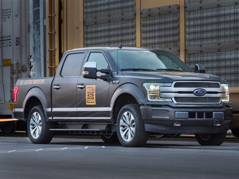 Watch an Electric Ford F150 pull over 1 million pounds
