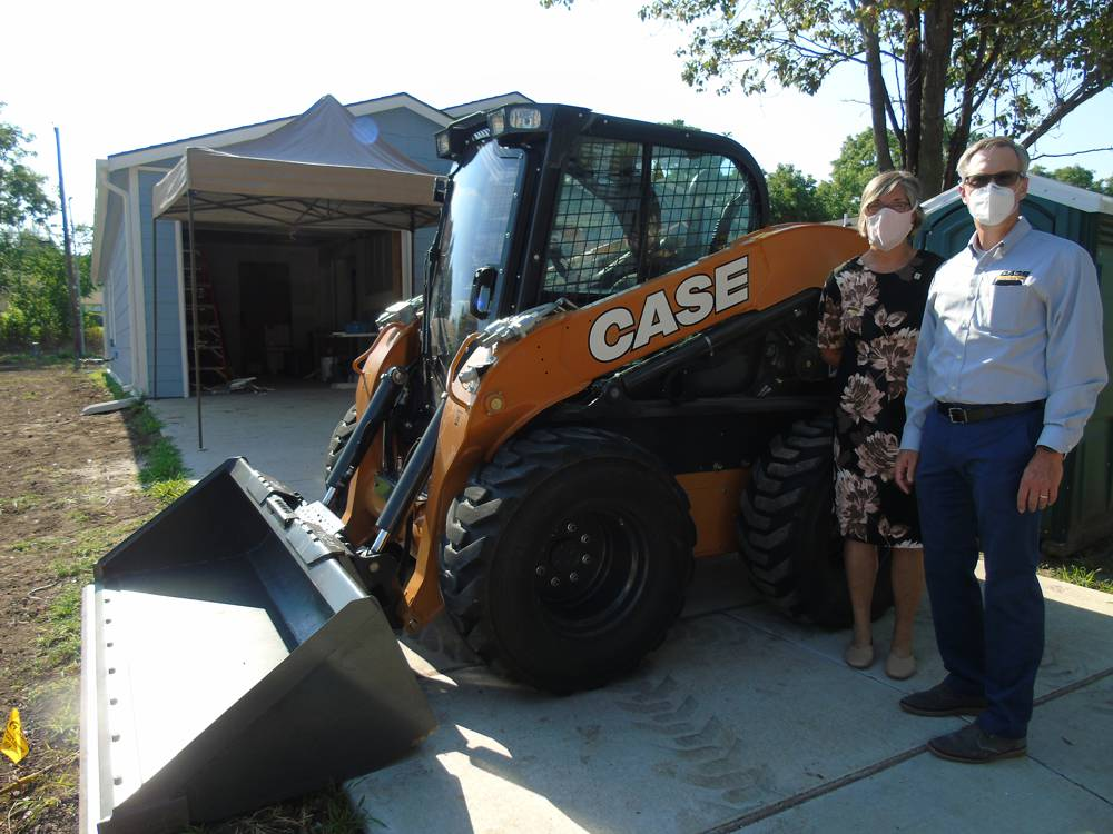 CASE Construction donates skid steer loader to Habitat for Humanity