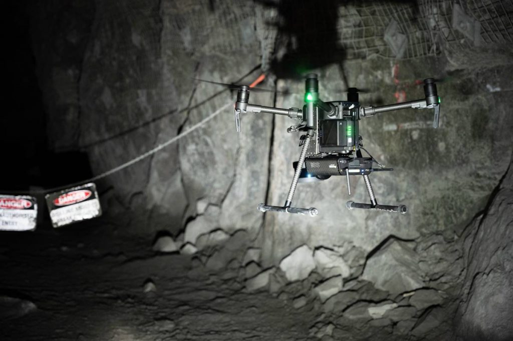 Emesent's Autonomy Level 2 (AL2) technology for Hovermap, using Velodyne's lidar sensors, enables companies to rapidly map, navigate and collect data in challenging inaccessible environments such as mines, civil construction works, telecommunications infrastructure and disaster response environments. (Photo: Emesent)