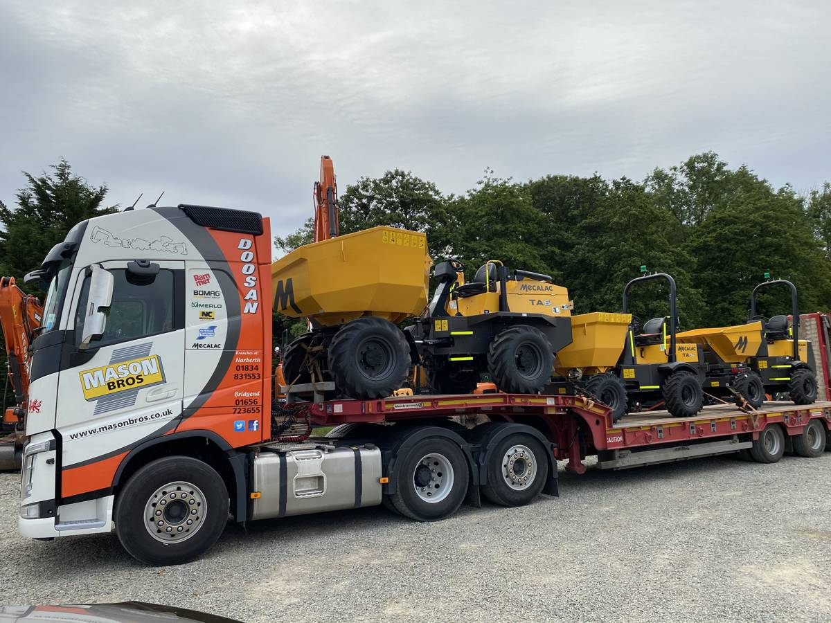 Mason Bros appointed Mecalac Construction Equipment dealer in South and central Wales