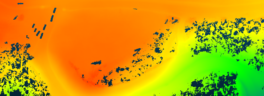 Digital terrain model (DTM) generated from RTL-400 point cloud.