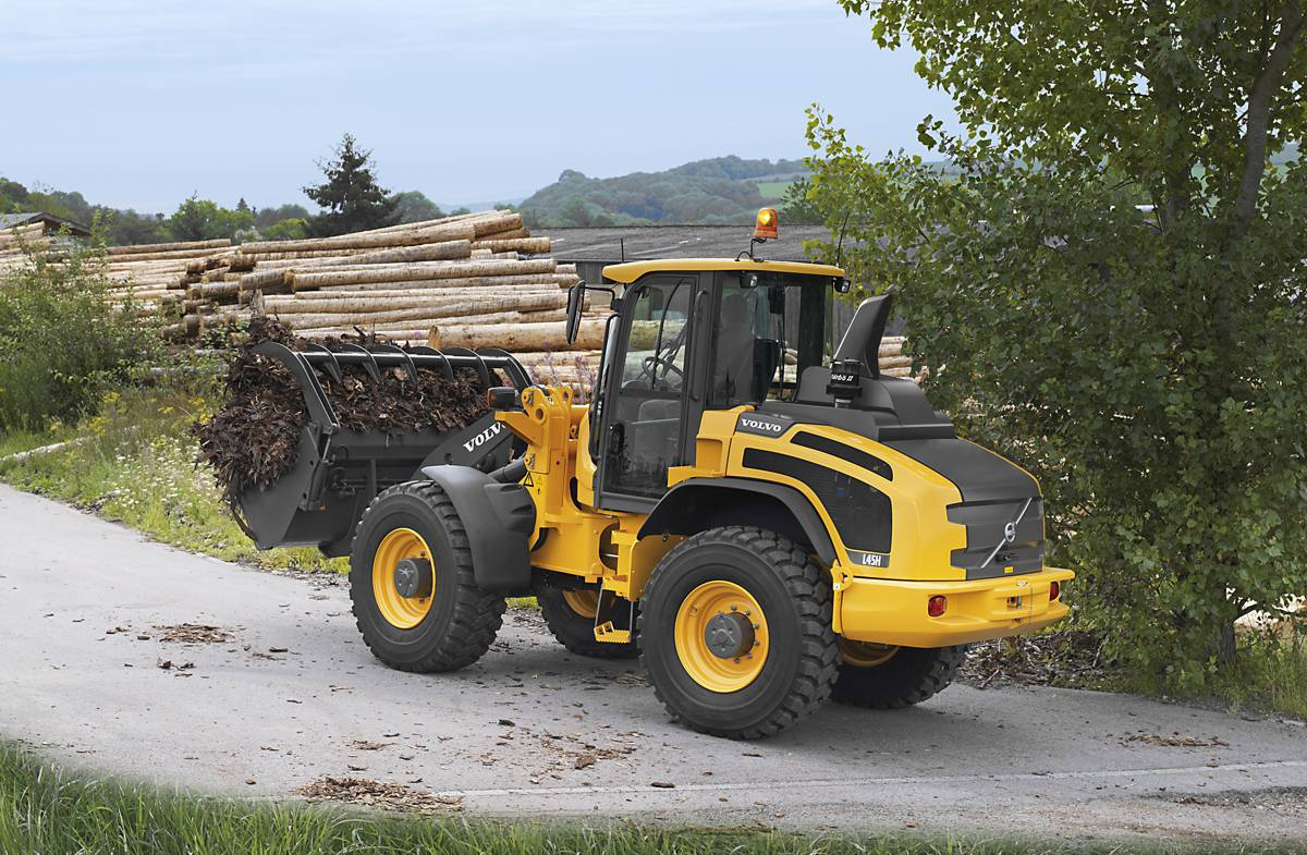VolvoCE L45H and L50H wheel loaders now offered with high-speed driveline