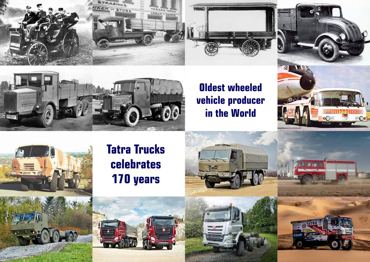 Tatra Trucks celebrates 170 years as the oldest wheeled vehicle producer in the World