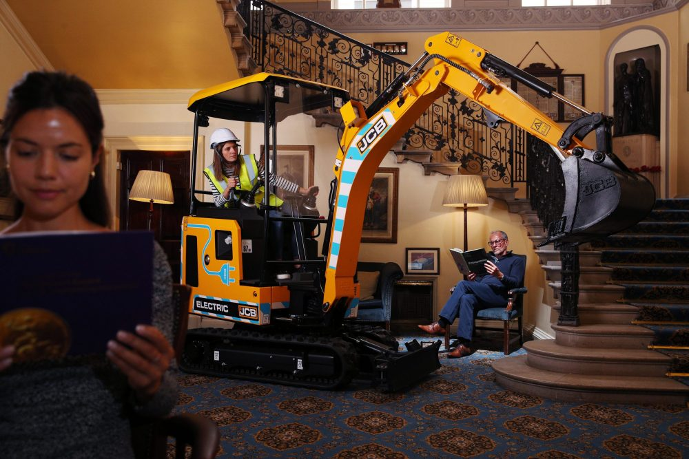 JCB celebrates MacRobert Award for innovative electric mini excavator