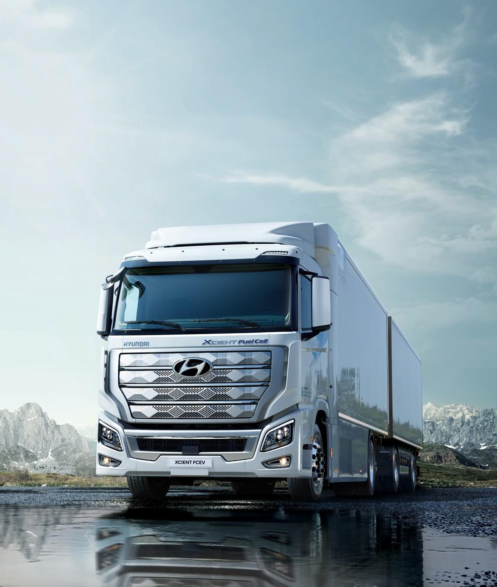 Hyundai Xcient heavy-duty fuel cell truck set for Switzerland