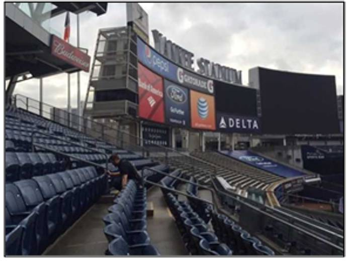 GPRS operators using the GSSI StructureScan Mini at Yankee Stadium