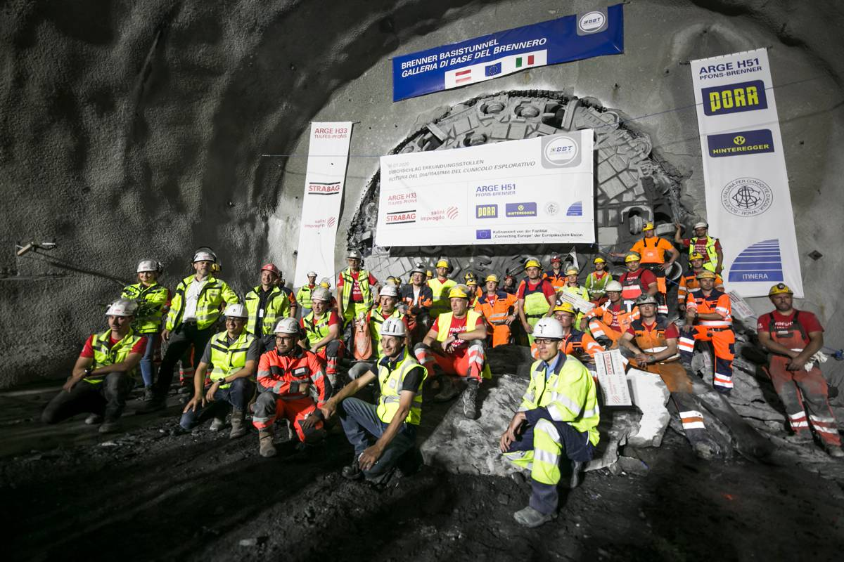 Brenner Base Tunnel reaches new milestone with Herrenknecht tunnel boring machine
