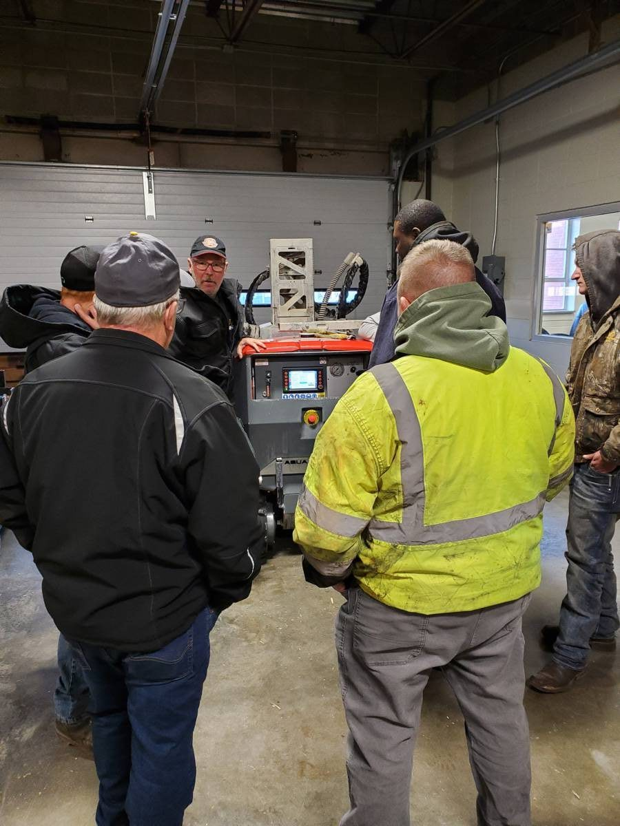 Aquajet representatives are located throughout the U.S. and Canada and can quickly travel to a jobsite for training, which is included with the sale of each machine.