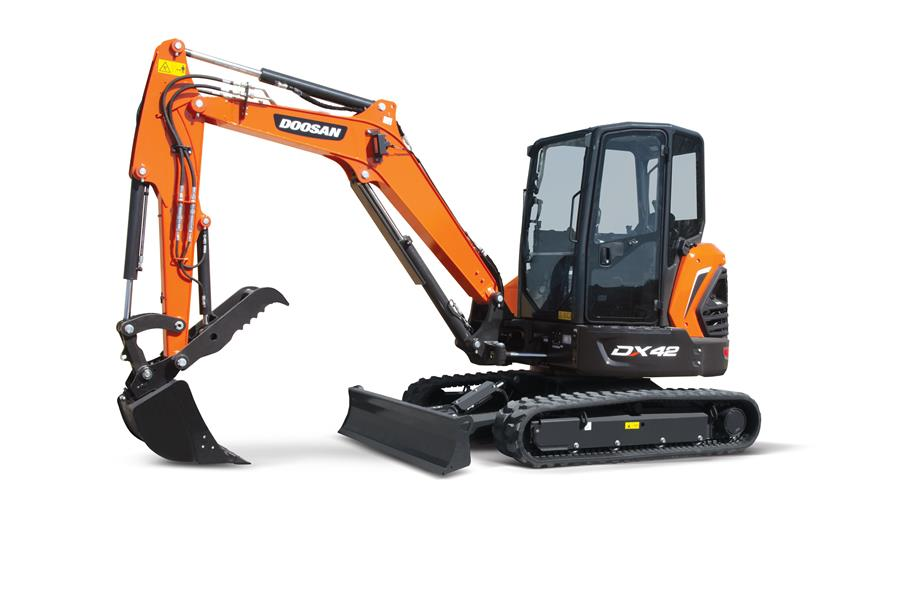 Doosan introduces new DX42-5K and DX50-5K mini excavators in North America
