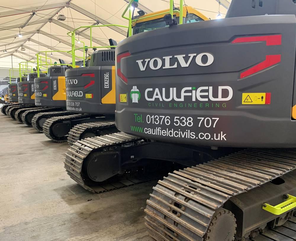 Caulfield upgrades 22 new Volvo Excavators with GKD RCi's for Smart Motorway project