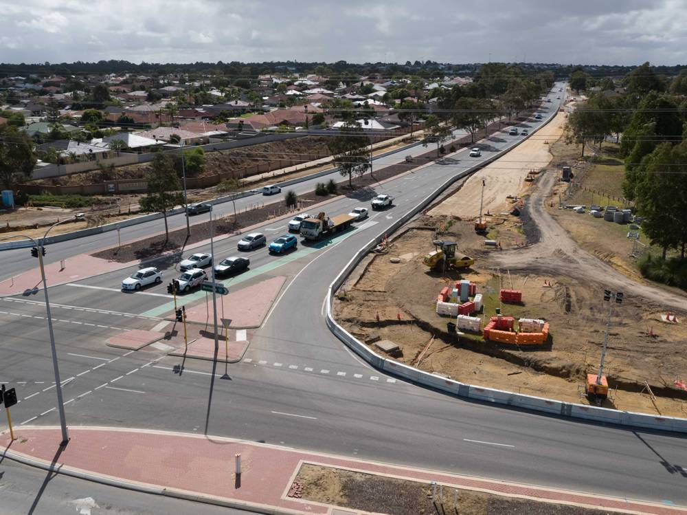 Perth road project protected with Highway Care Barrier System