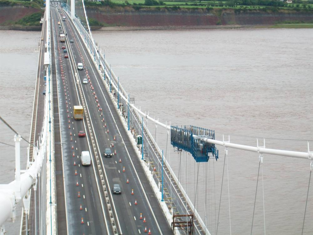 M48 Severn Bridge cable inspection