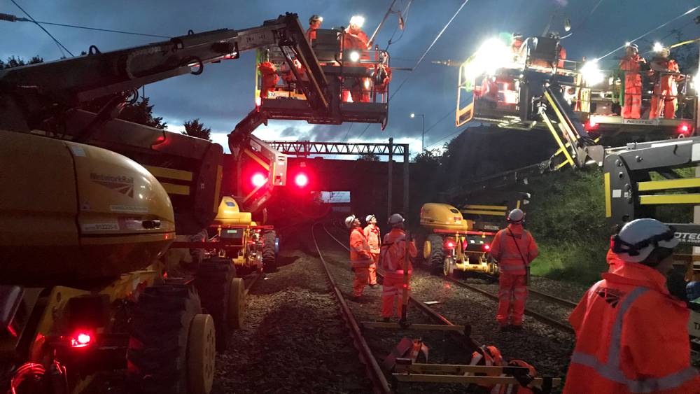 Network Rail investing in 25,000 volt overhead electric lines in Lancashire and Cumbria