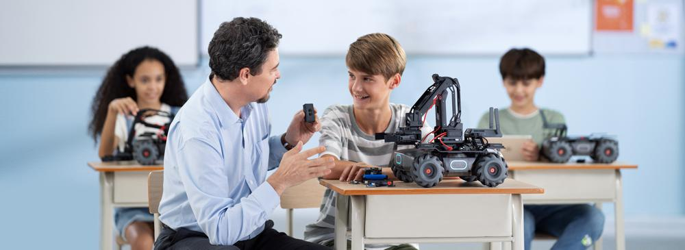 DJI RoboMaster EP Core sparking Robotics, AI and STEM Education