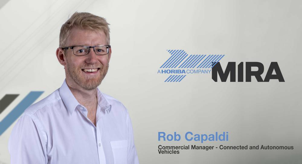 ob Capaldi, Commercial Manager for Connected and Autonomous Vehicles at HORIBA MIRA