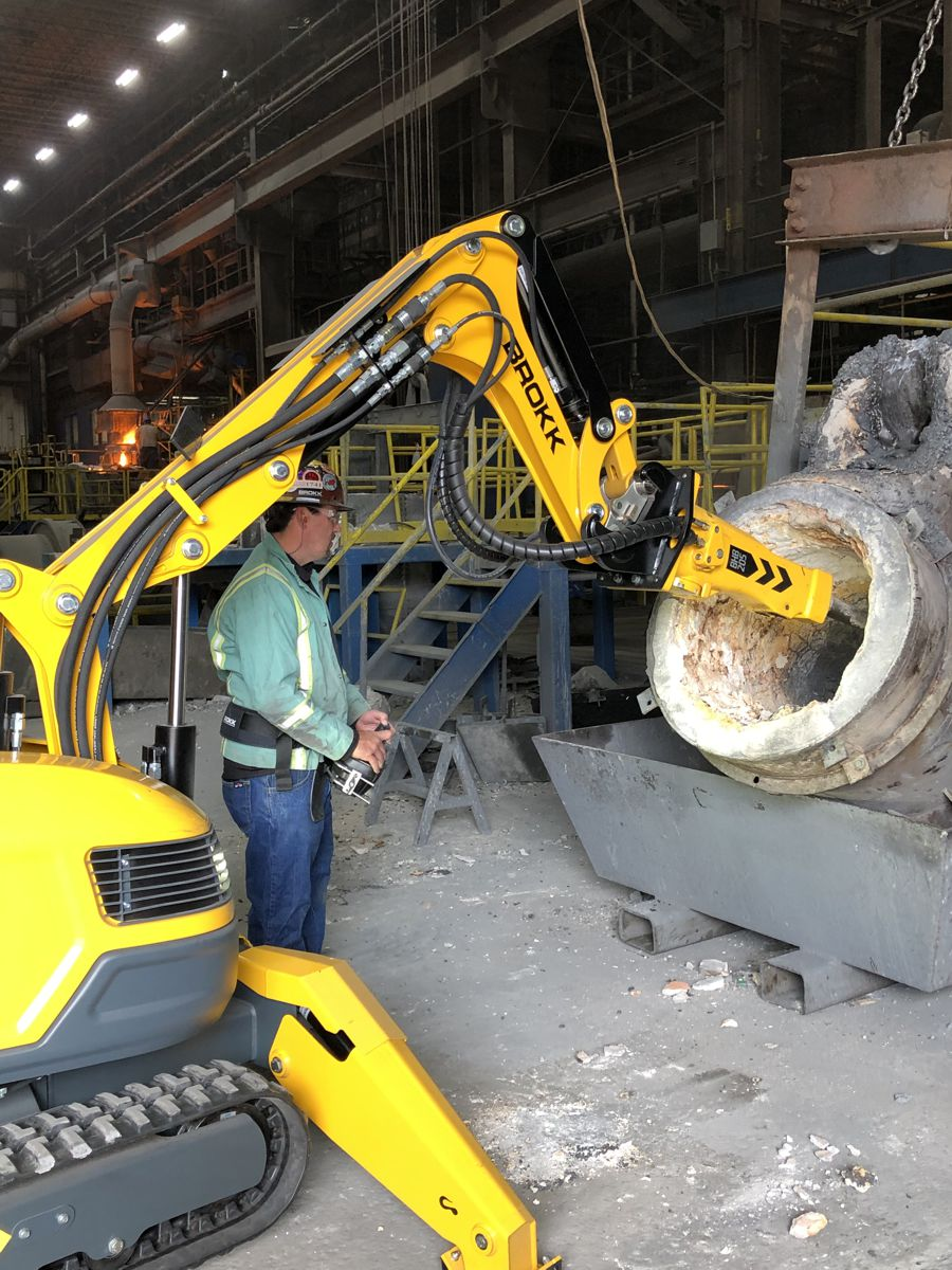 Brokk Demolition Machines now with customised options for High Heat Environments