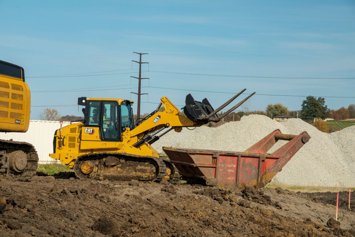 Cat 963 Track Loader delivers versatility and productivity