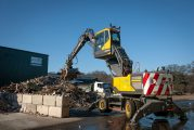 Commercial Recycling upgrades with a Volvo EW240E Material Handler