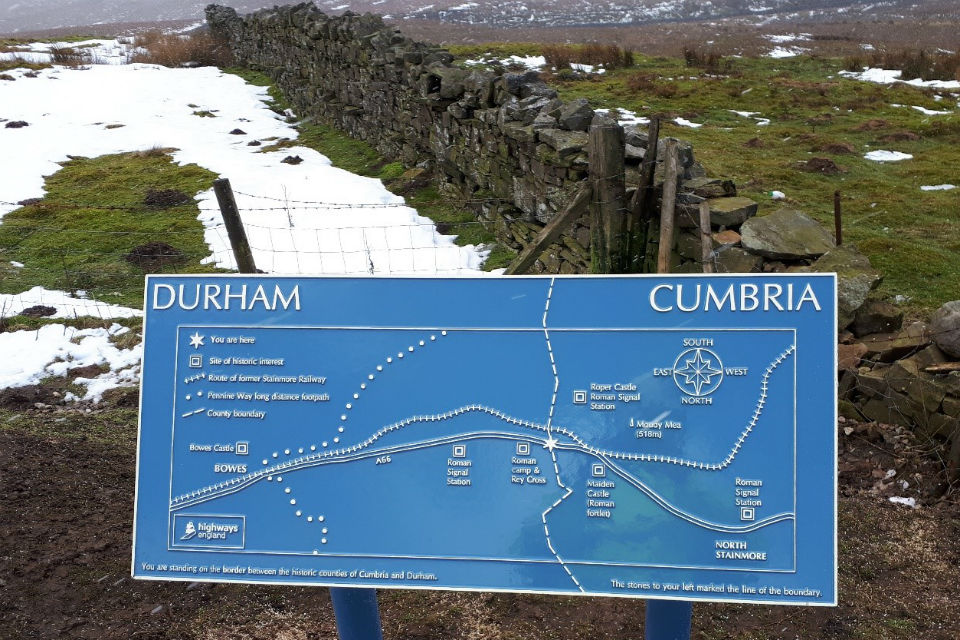 The renovated and re-positioned marker stone plus new information board chronicling the history of the border area has transformed this layby along the A66 near Stainmore