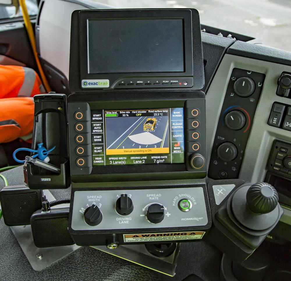 Inside the new high-tech gritter cab