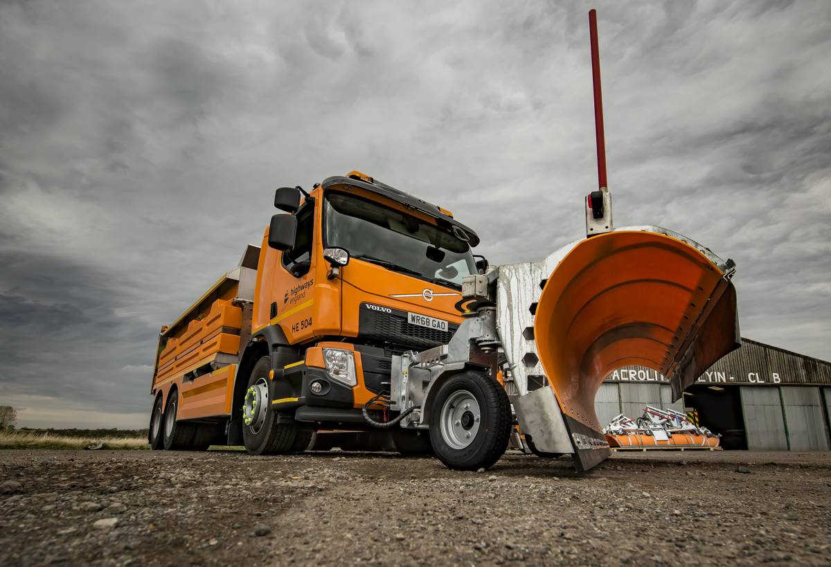 New state of the art Highways England gritter