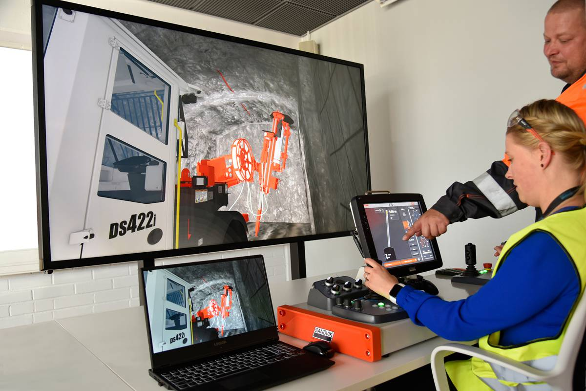 Sandvik Digital Driller training simulator enables learning anywhere, anytime