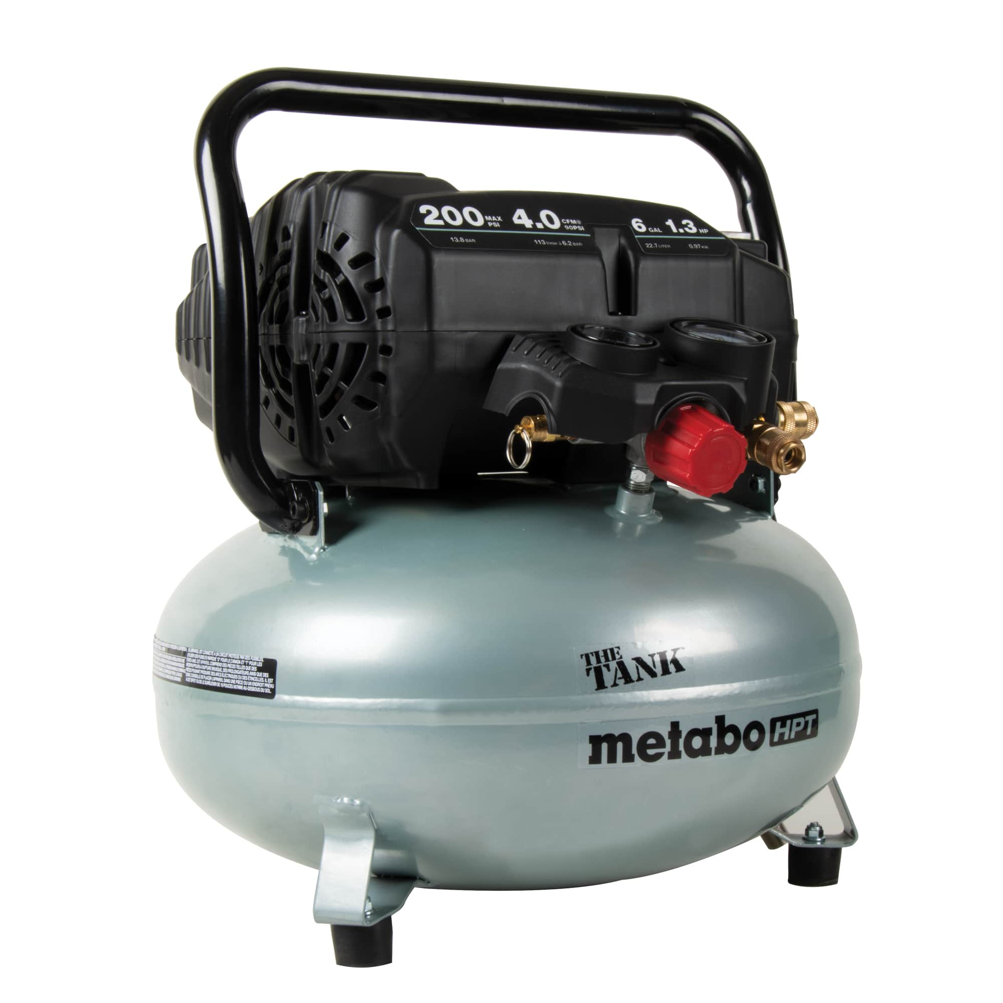 Metabo HPT today announced The Tank™ - the industry's first 200 PSI High Capacity Pancake Compressor (model EC914S).