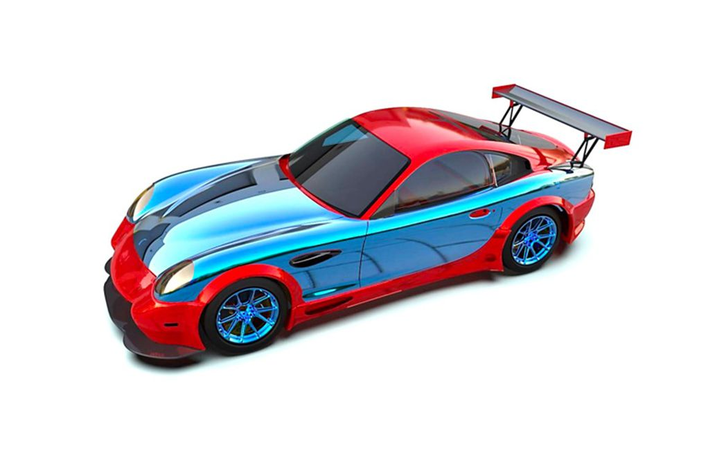 A cutaway showing the first layer of the magnesium-optimization strategy for a Panoz race vehicle, pioneered by Galaxy Motion. The blue elements are precisely-engineered magnesium alloys that meet or exceed performance characteristics and safety specifications of the original aluminium or steel.