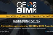 GEOBIM 2020 invites Awards Nominations in Digital Engineering and Construction