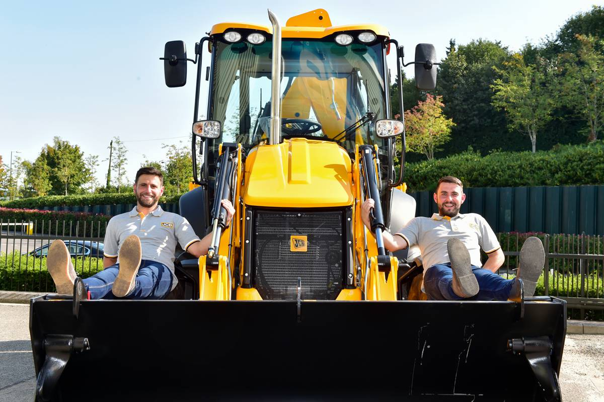 Brothers Shaun and Daniel Boot, great grandsons of Bill Boot, continue the family tradition of working for JCB