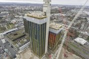 Doka automatic Xclimb system used to demolish Deutsche Welle building