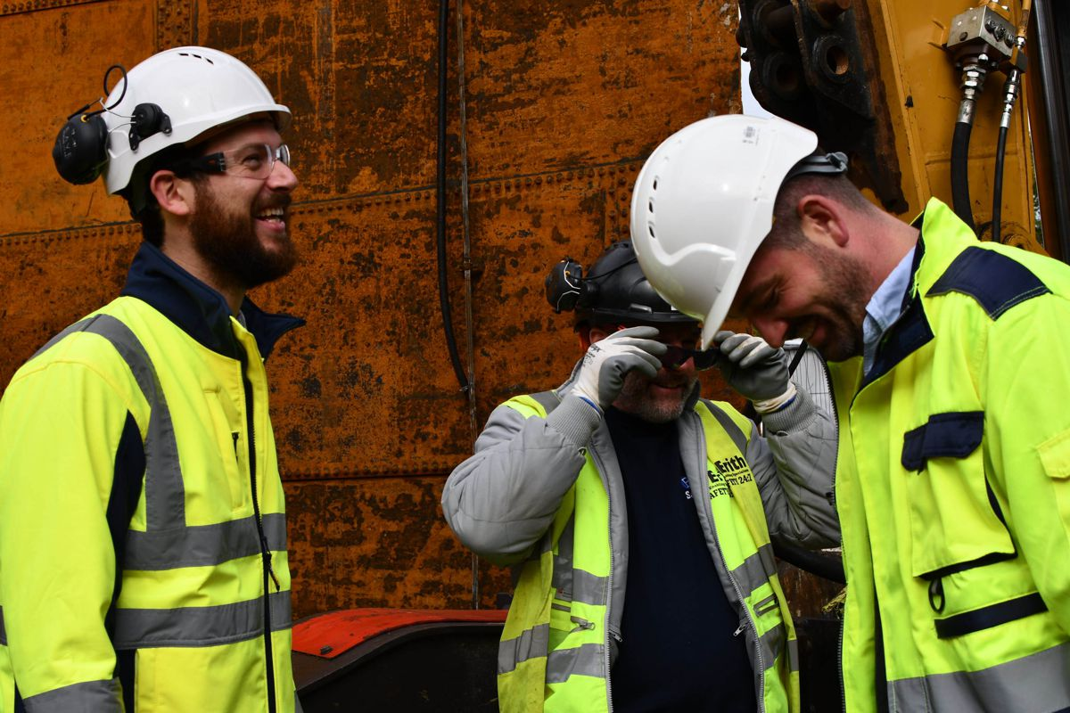 Eave CEO David Greenberg (left of shot) on site with Erith