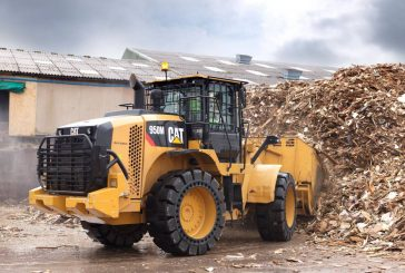 Finning and Veolia trial joystick controlled CAT Wheel Loaders