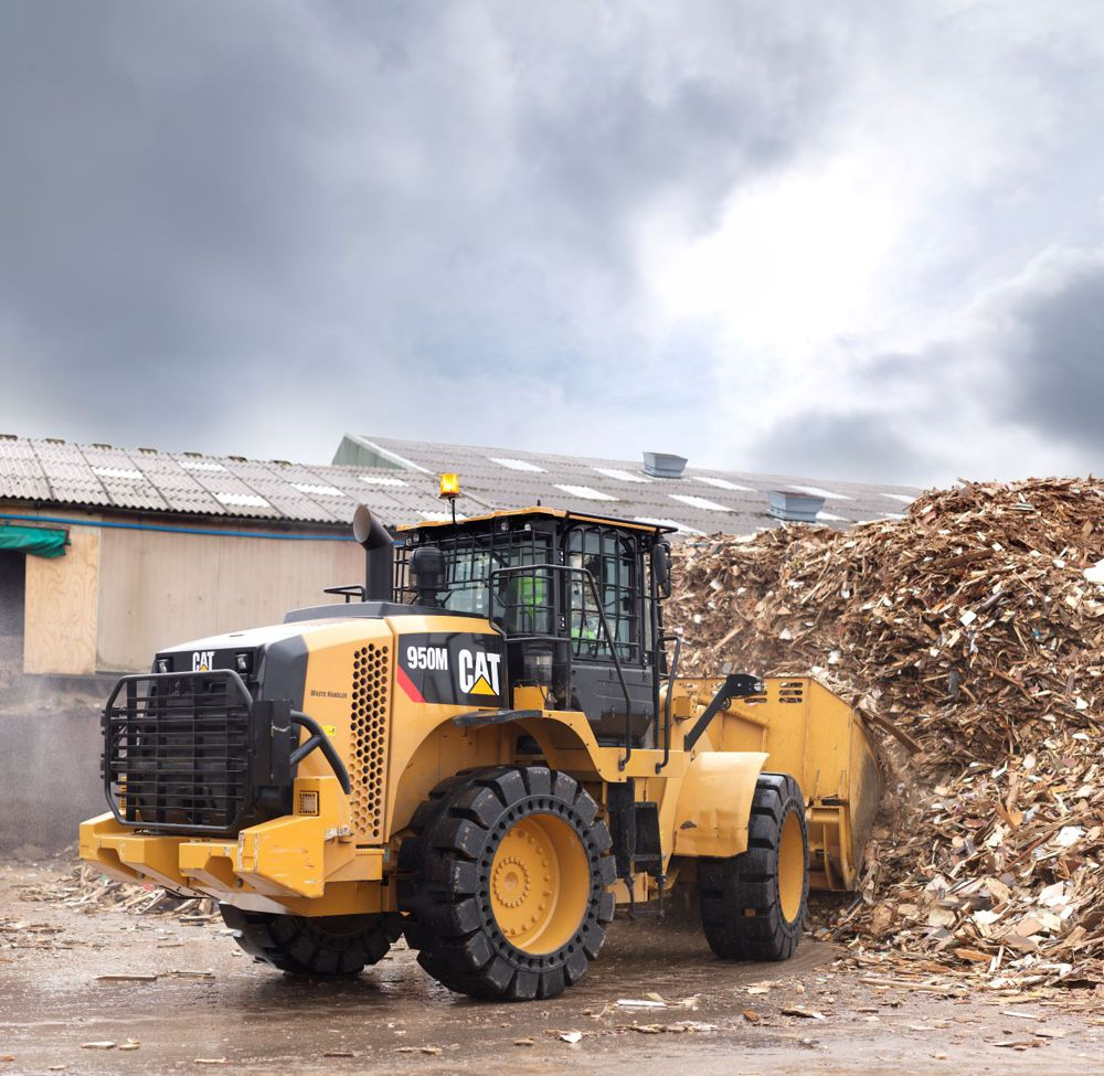 Finning and Veolia trial joystick controlled CAT Wheel Loader