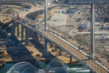 Iconic new Bridge opens today in Long Beach, California