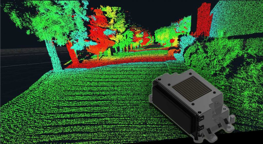 The high resolution of the long-range LiDAR improves the classification of objects.