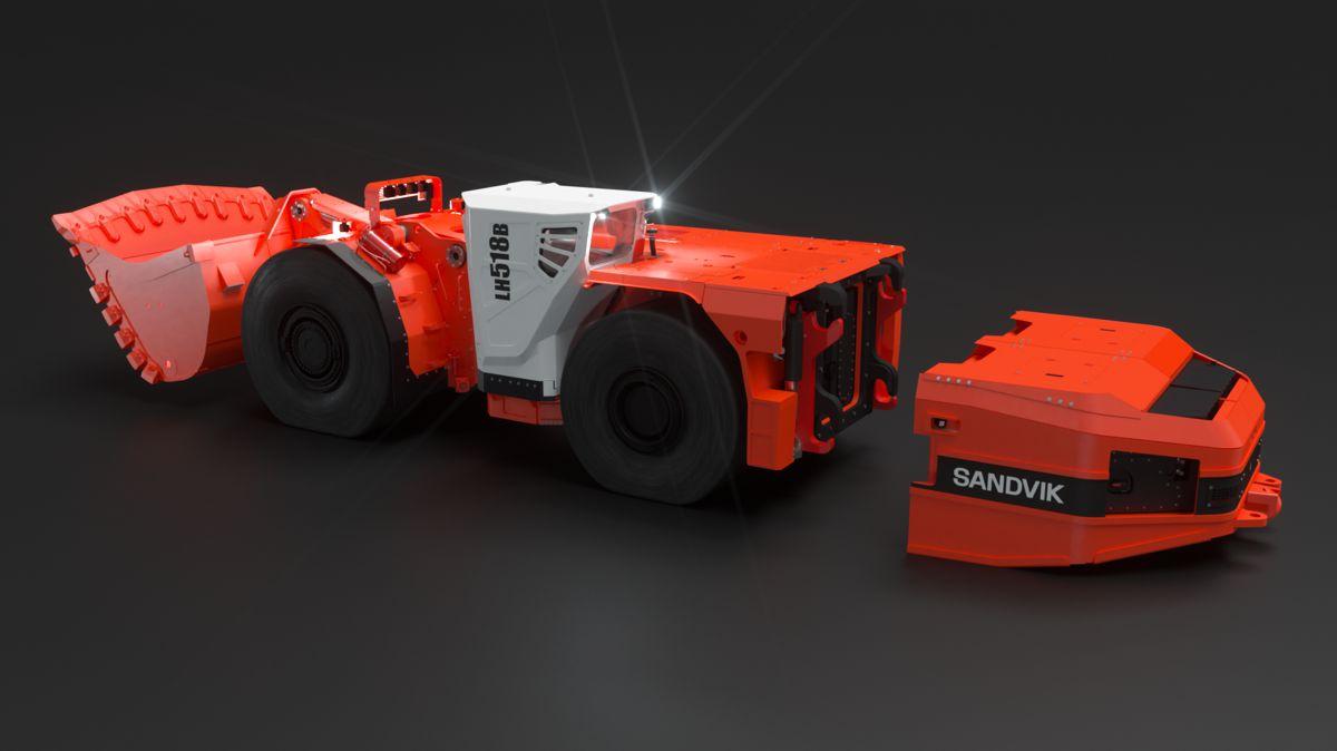 Sandvik announces the LH518B 18 tonne battery operated loader