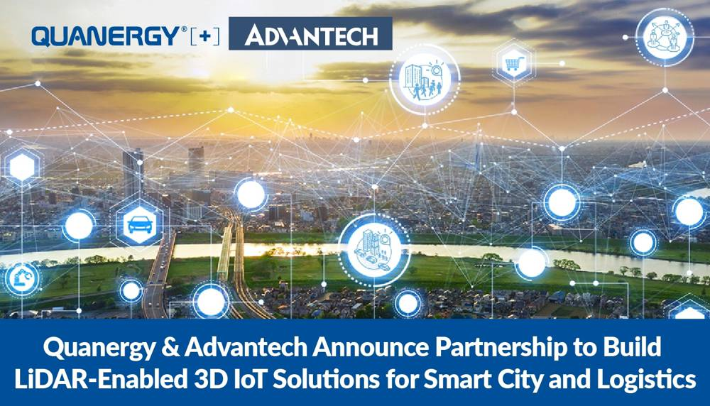 Advantech and Quanergy partner for LiDAR 3D IoT Solutions for Smart Cities