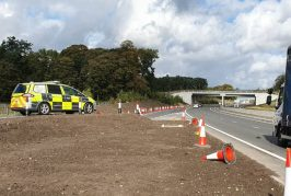 Highways England install new safety measures after A556 platform work in Cheshire