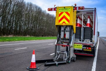 Highways England trials automated cone laying vehicle