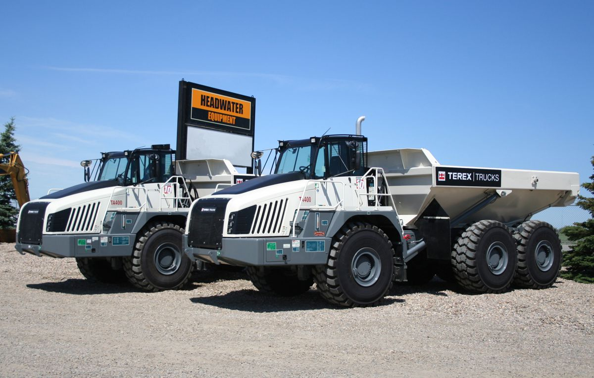 Terex Trucks articulated haulers can handle rough terrain and tough conditions and perform reliably during Canada's coldest months of the year.